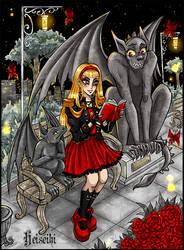 Girl with Gargoyles by heiseihi