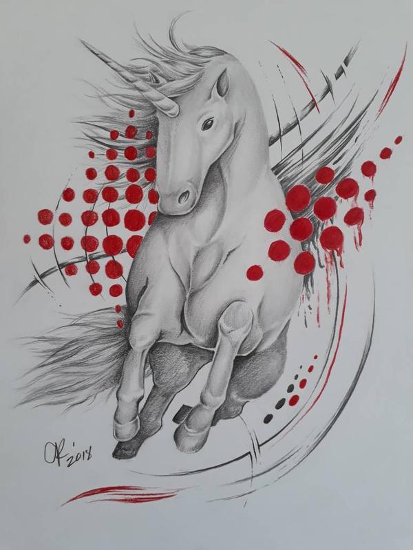 trash polka unicorn