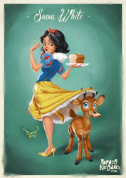 Snow White Pin Up Girl by pangketepang