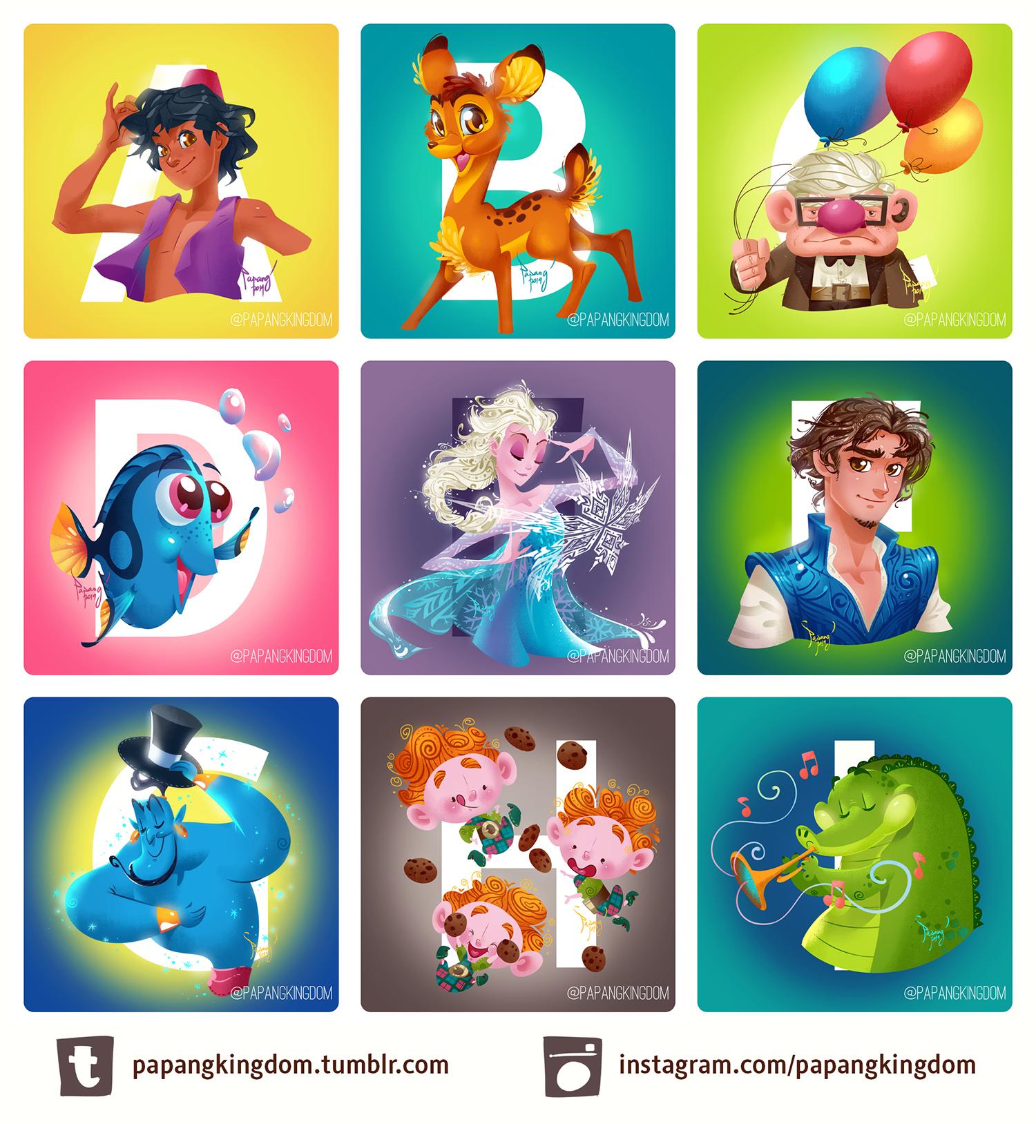 Disney A-Z by pangketepang
