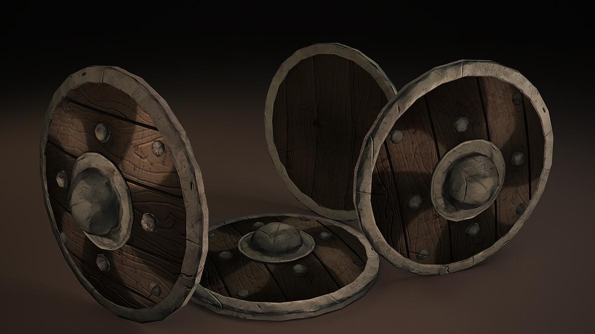Shield - Game - PolycountNoobChallange by Artush