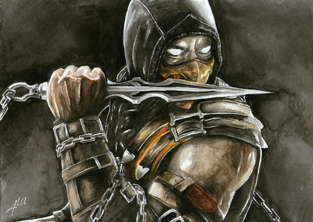 Mortal Kombat Scorpion Drawings