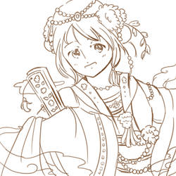 Fem!China Character CD Lineart by Ask-APH-fem-china
