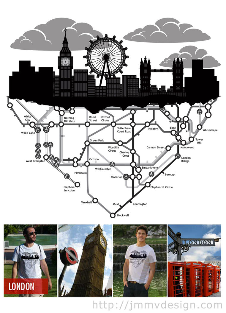 Shirt design london - Phileas Globe London T Shirt Design By Jmmvdesign