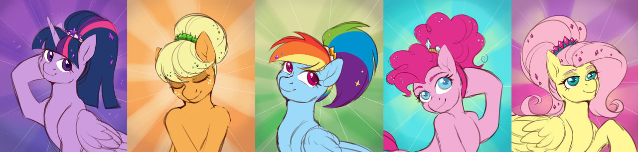 Ponies with ponytails