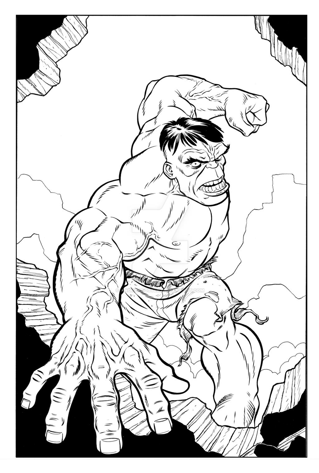 the incredible hulk by angryrooster on deviantart