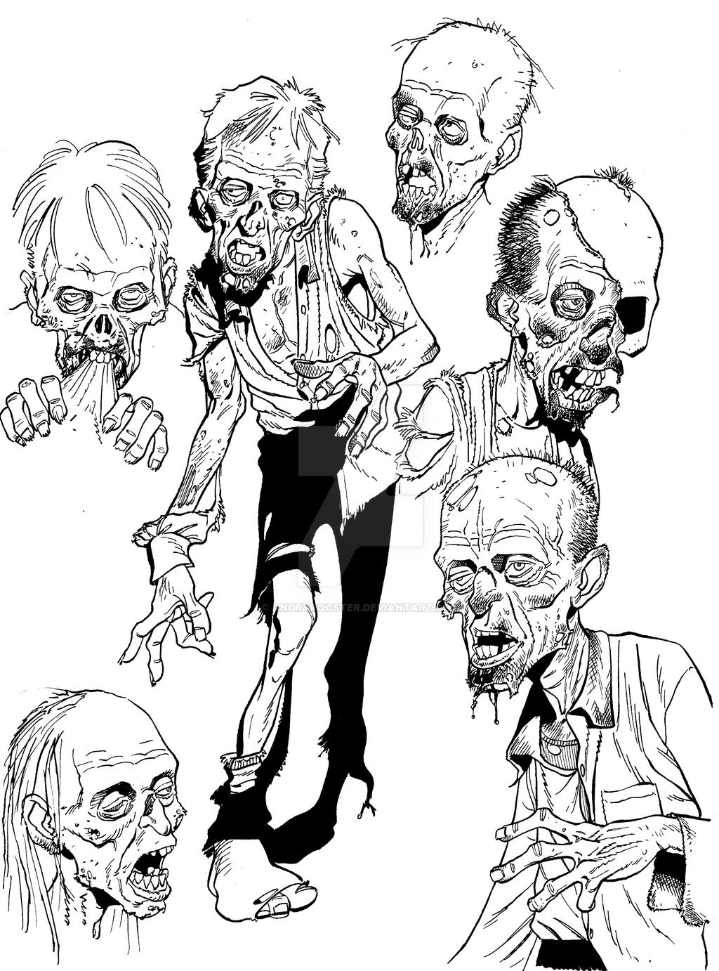 Zombie sketch stuff by angryrooster on DeviantArt