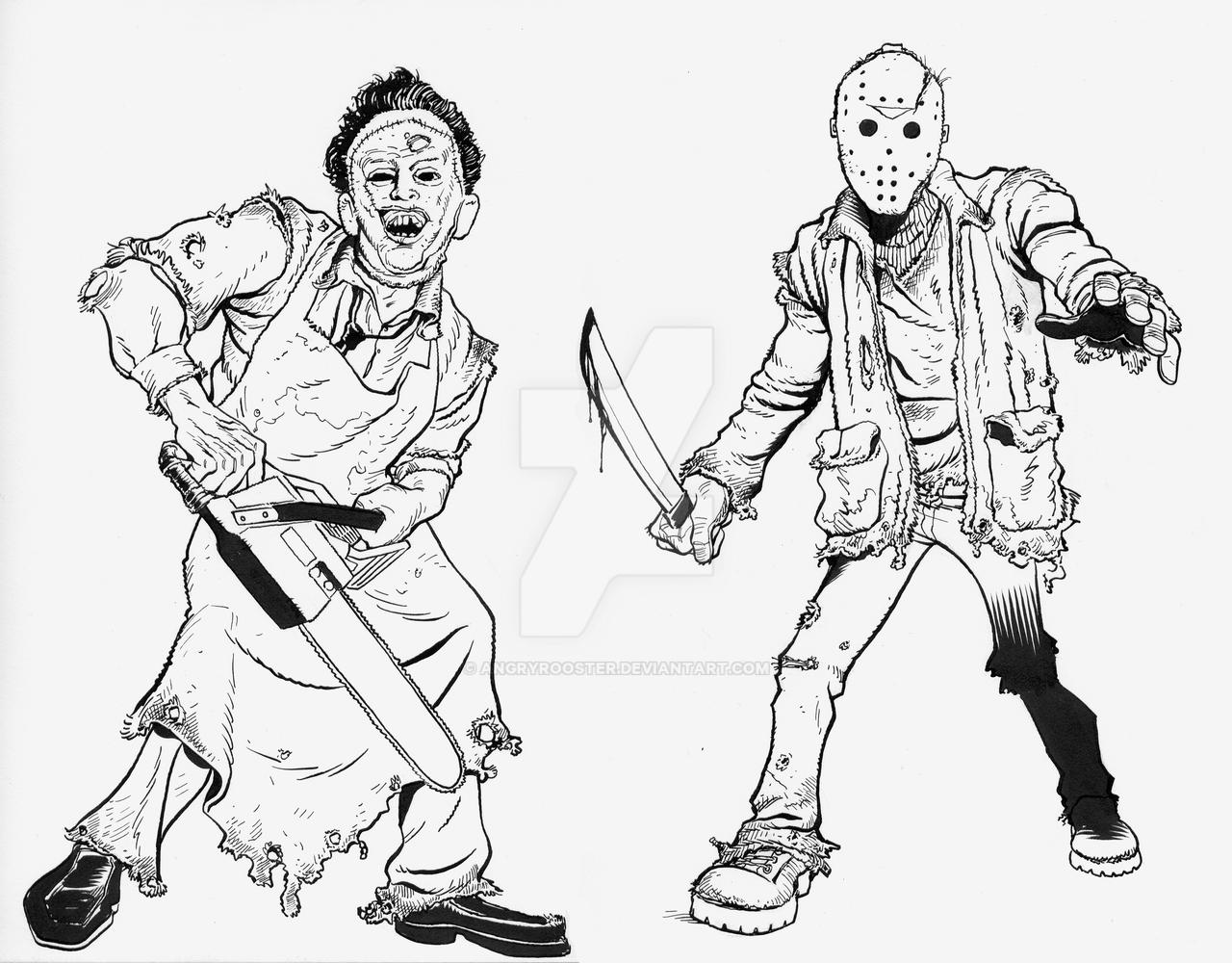 Jason And Leatherface By Angryrooster On Deviantart