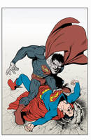 Bizzarro superman color fun by angryrooster