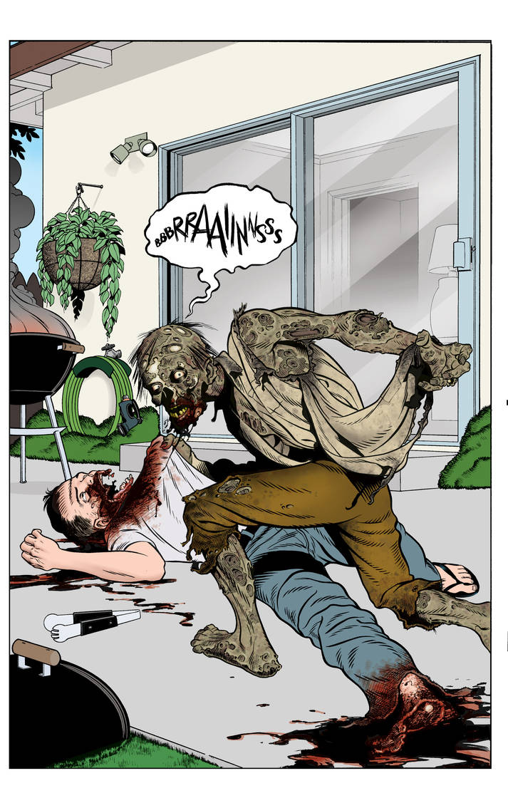 Zombie attack incolor