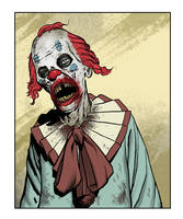 Clown Zombie by angryrooster