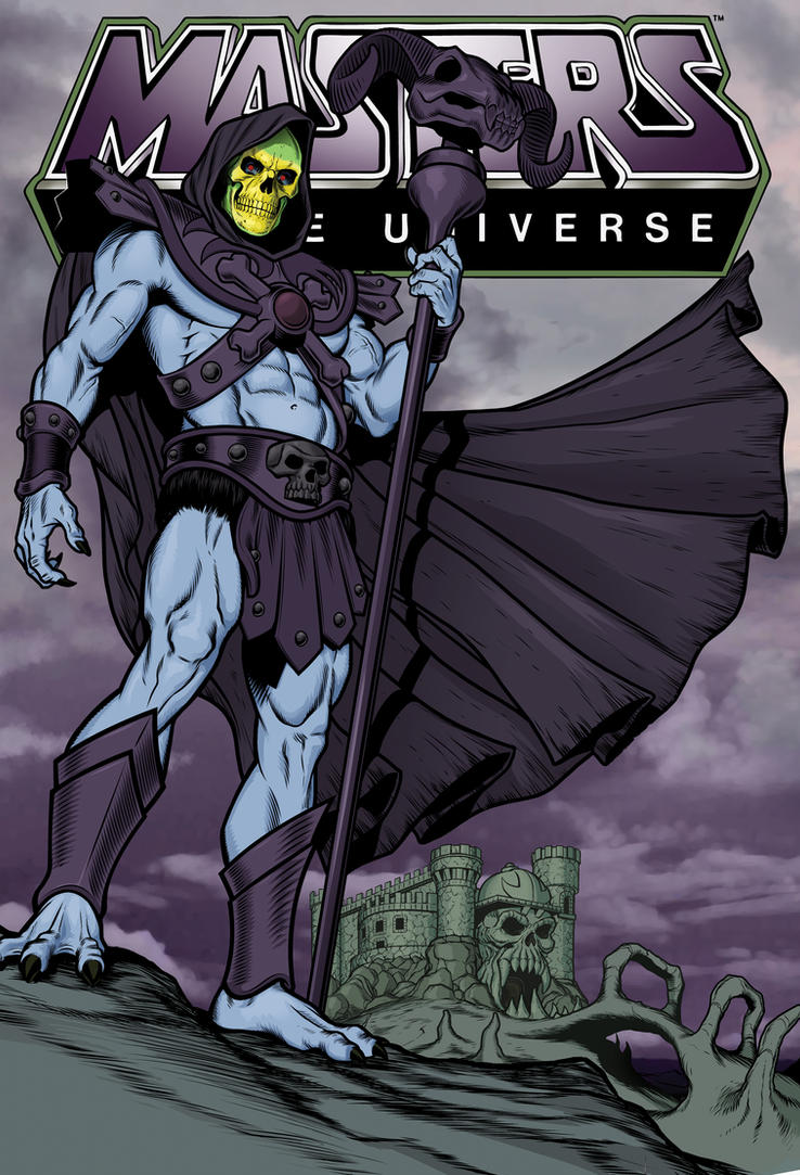 SKELETOR-in color! by angryrooster
