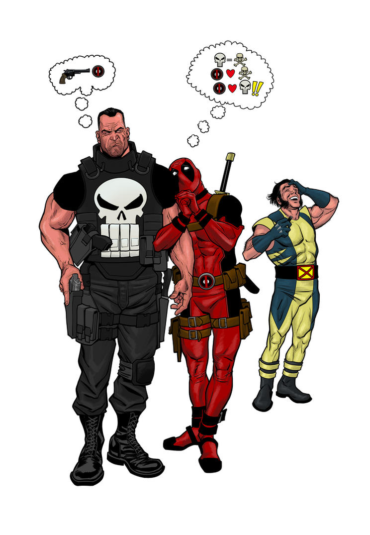DeadpoollovesFrank by angryrooster