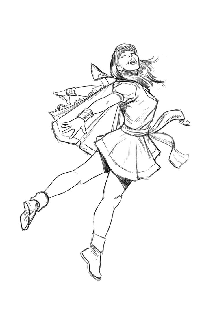 Mary Marvel sketch by angryrooster