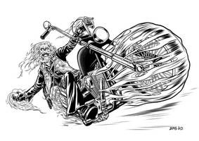 !970's Ghost Rider by angryrooster