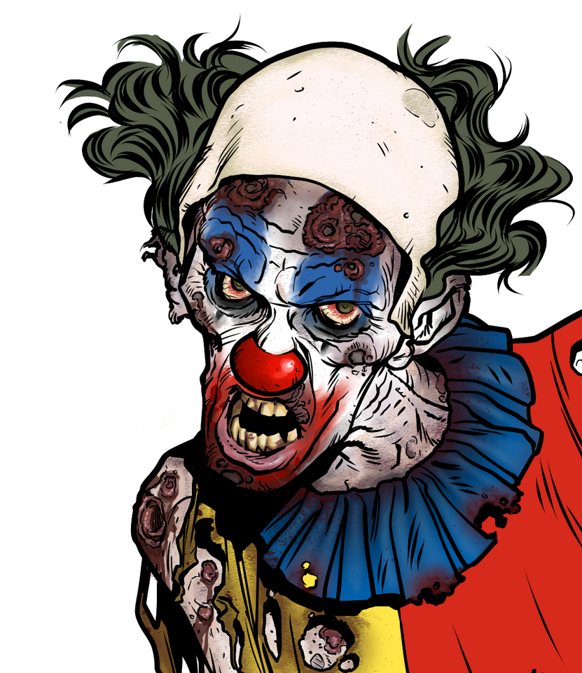 Zombie Party Clown WIP by angryrooster