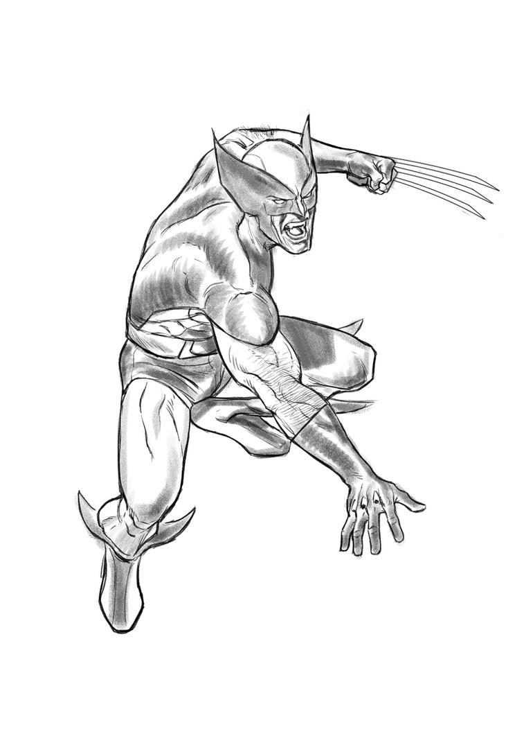 Classic Wolverine Sketch by angryrooster