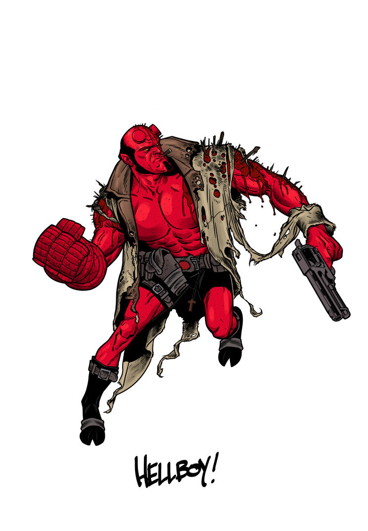 Hellboy by angryrooster
