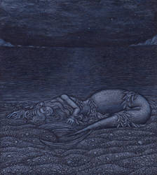 Miranda and the Night Ocean by tekelili