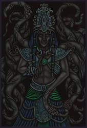 Nyarlathotep by tekelili