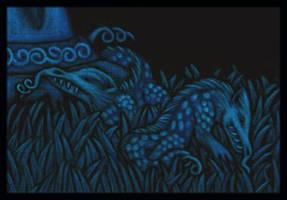 'Slithy tove' detail by tekelili