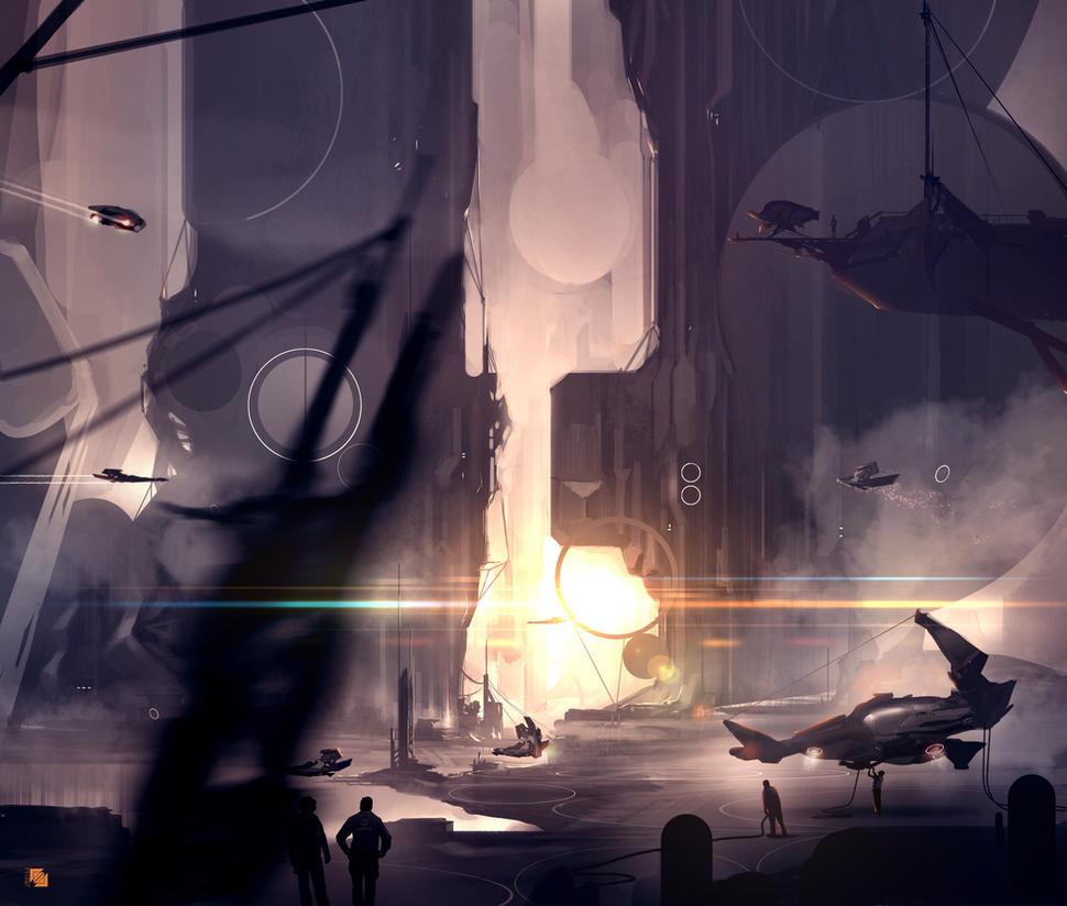 Spaceport by FlorentLlamas