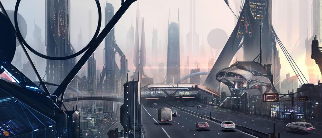 City at dawn by FlorentLlamas