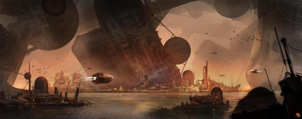 Futuristic Bay by FlorentLlamas