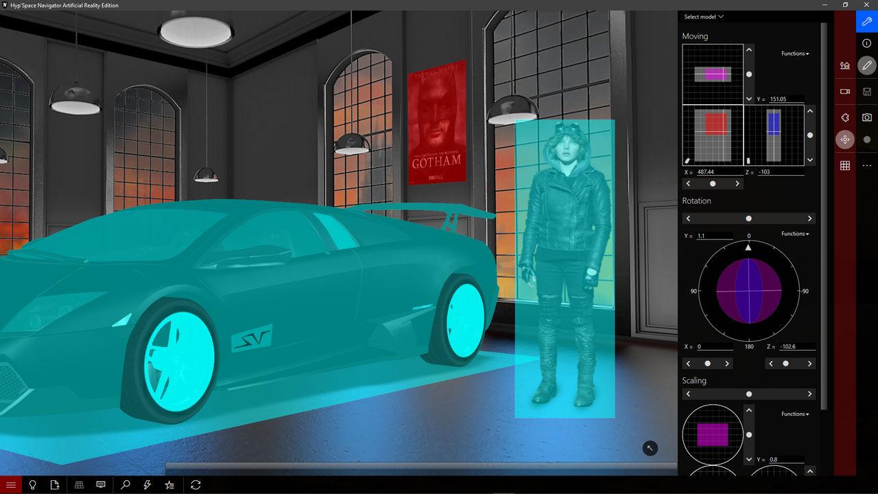 Artificial Reality editor
