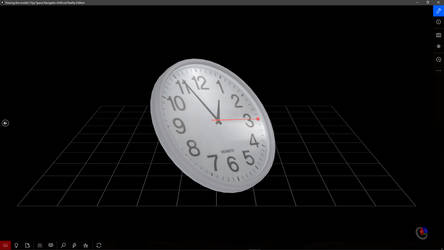 3D clock with real time