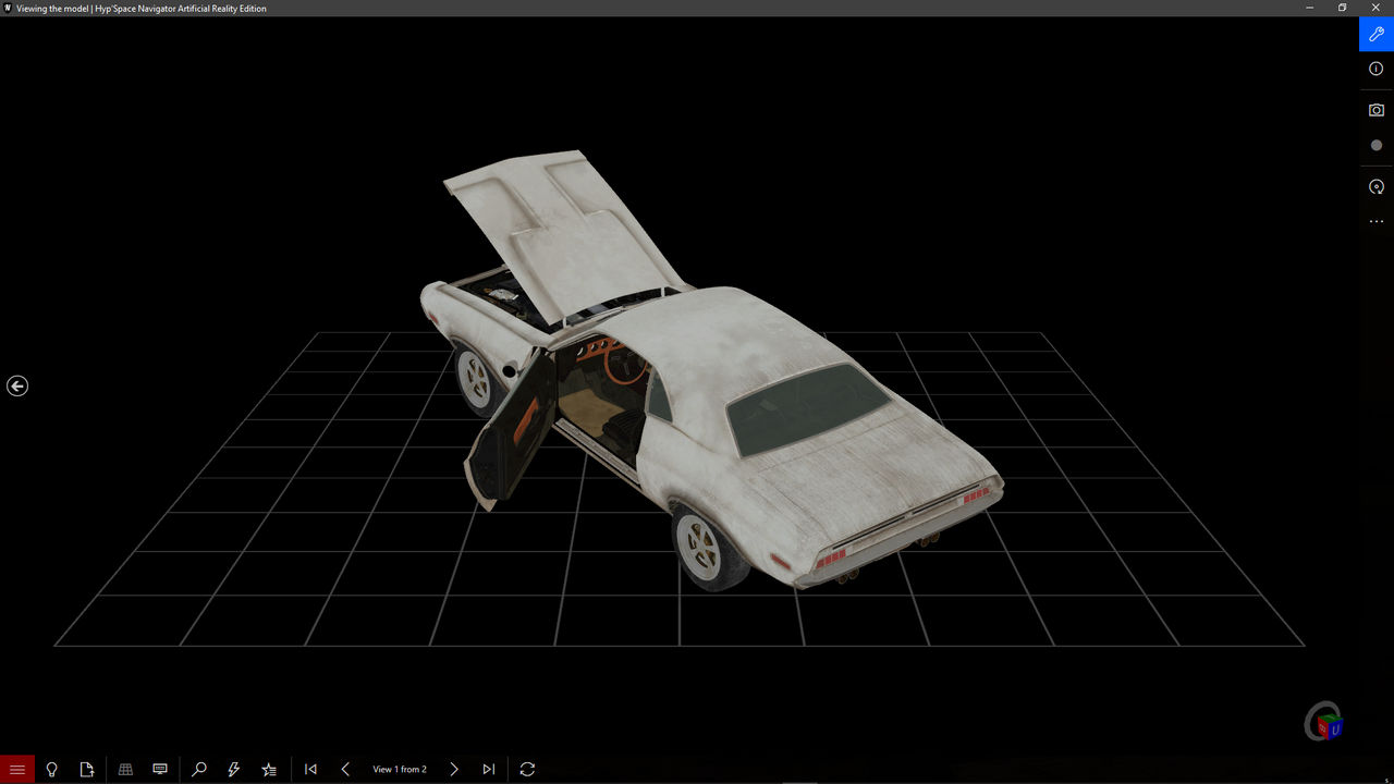 Interactive 3D model with skins