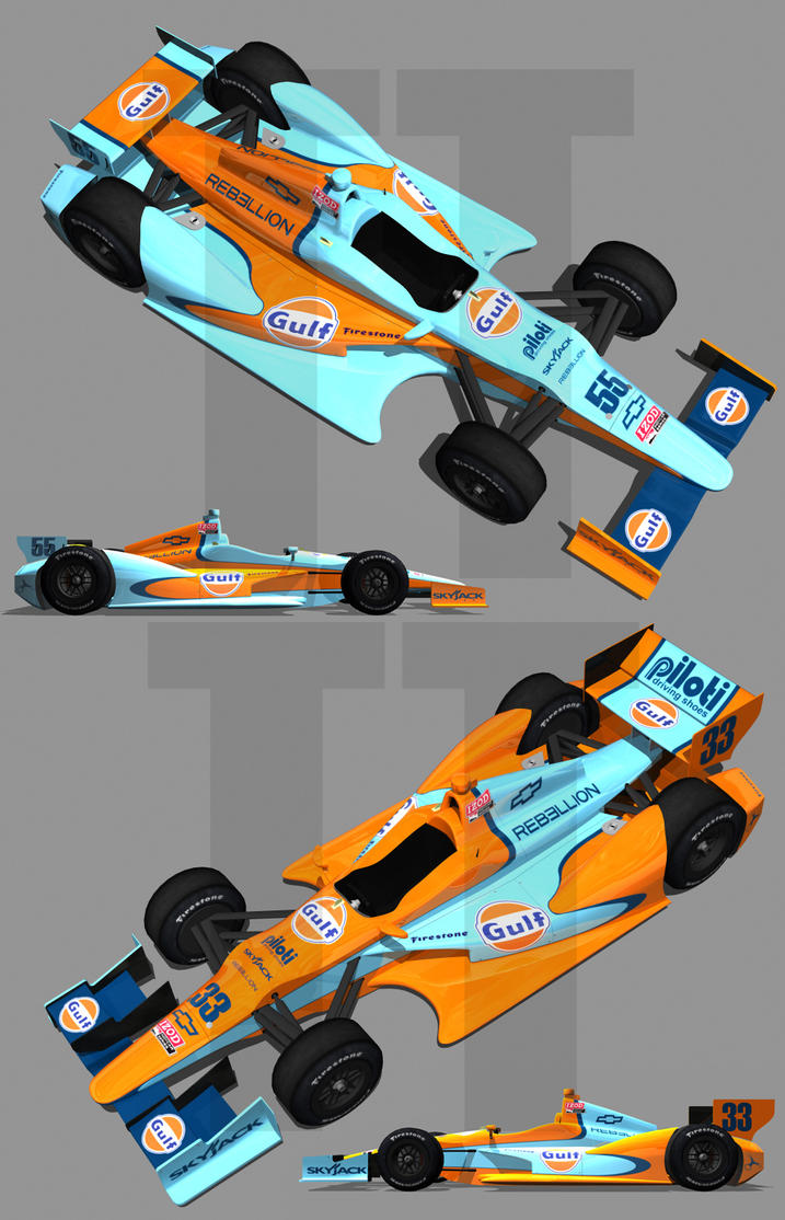 2012 Gulf Oil IndyCar by tucker65
