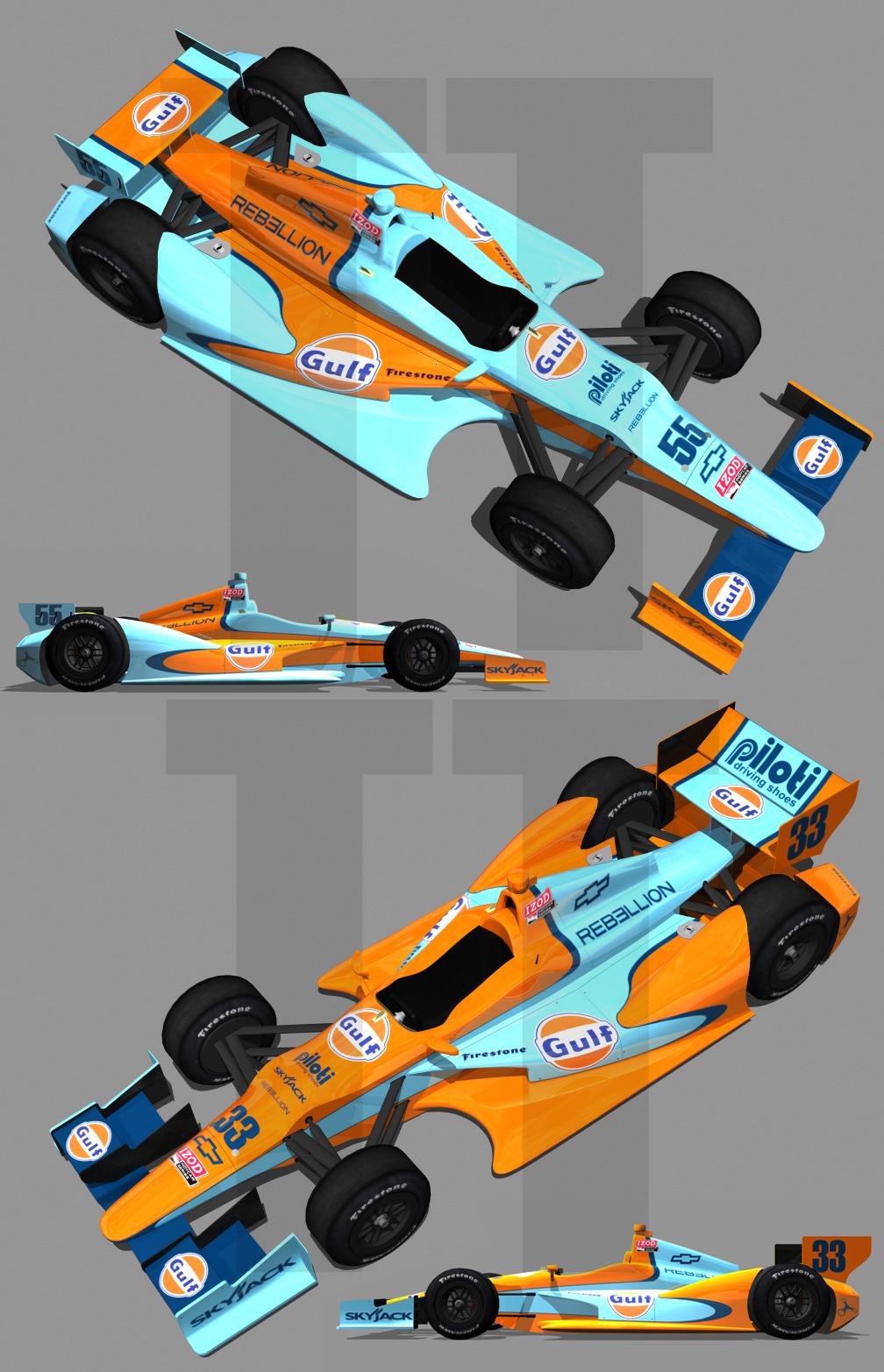 2012 Gulf Oil IndyCar by tucker65