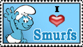 I love Smurfs stamp by Garassi