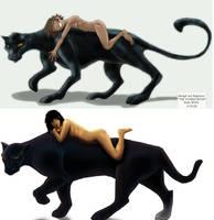 Mowgli and Baggy Draw It Again by KadeWolfe