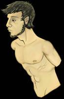 Male Torso Study by KadeWolfe