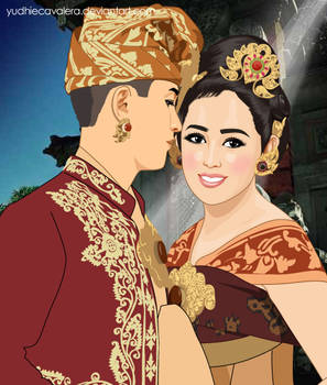 Bali wedding dress