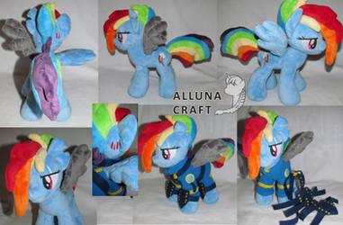 Rainbow Dash (Crystal War form) by AllunaCraft