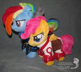 Rainbow Dash and Scootaloo by AllunaCraft