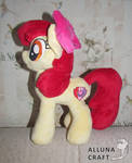 Adult Apple Bloom plush pony