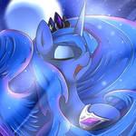 Luna under the moon