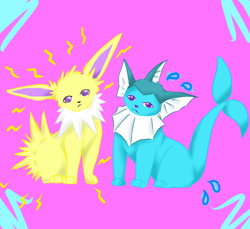 Jolteon and Vaporeon by Lexi247
