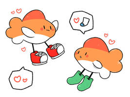 Socks and Shoes Fish by LexisSketches
