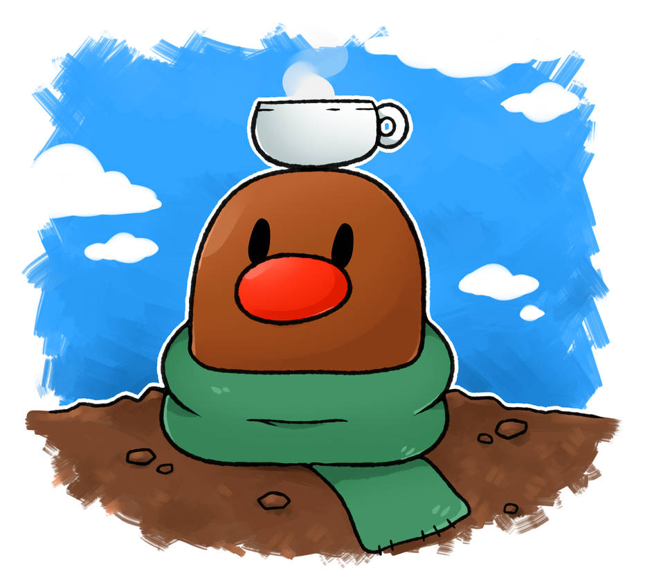 Hot Cocoa Diglett by LexisSketches