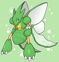 Scyther by LexisSketches