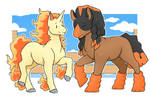 Mudsdale and Rapidash