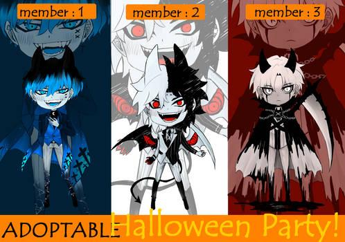 [OPEN]ADOPTABLE Halloween Party!