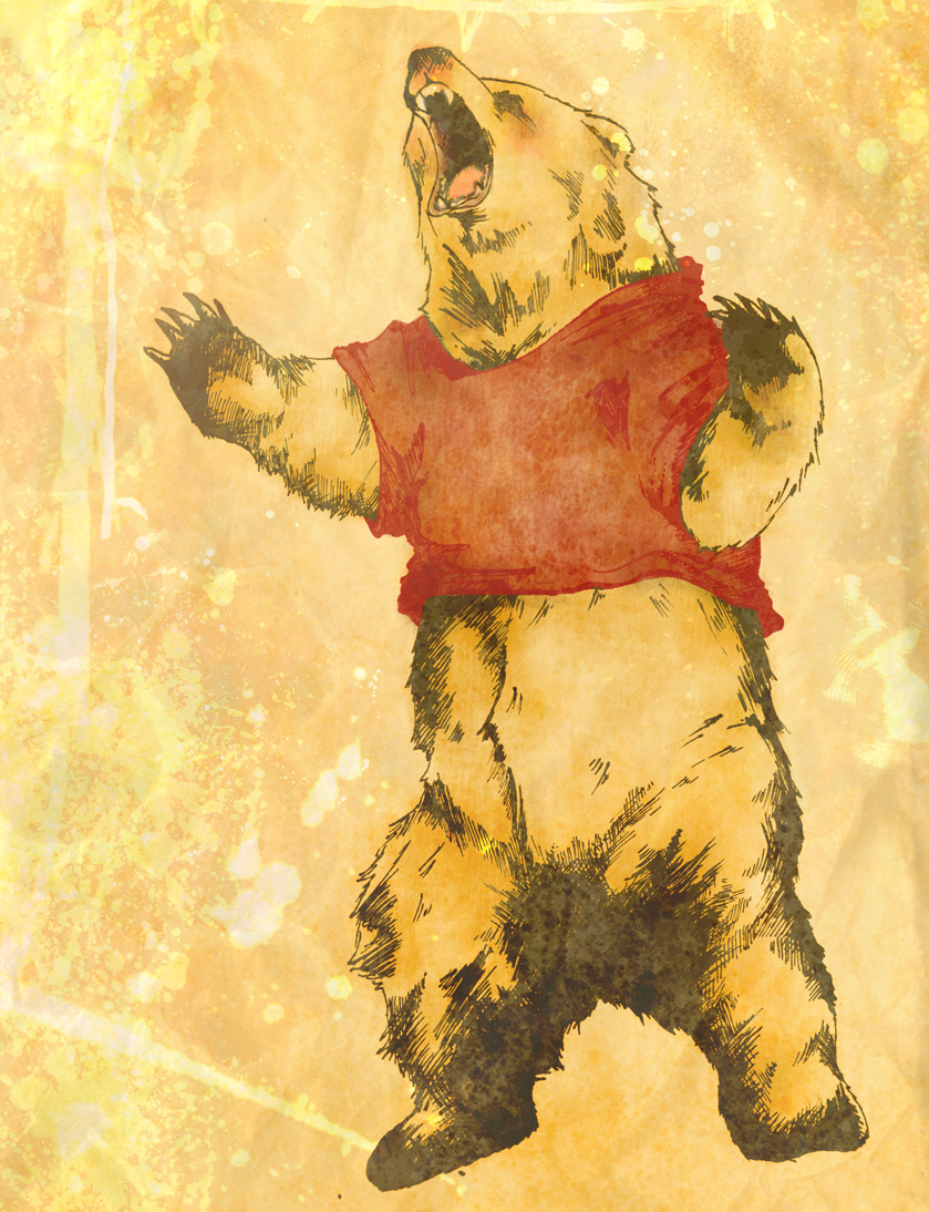 Silly ol' Pooh Bear by toxicness