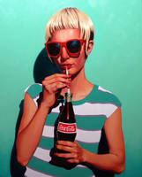 Untitled Coke Painting by toxicness