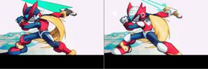 Rockman Zero X-Style Artwork by Thanatos-Zero
